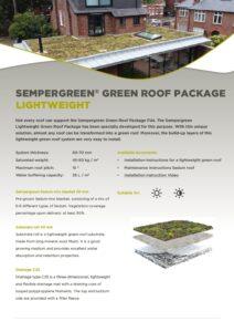Sempergreen Green roof Package Lightweight