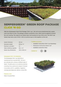 Sempergreen Green roof Package Click n go